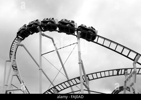Rollercoaster ride at M&D's Strathclyde Country Park Motherwell, Scotland, UK - Stock Photo