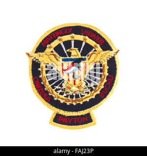 Mission Badge from the STS-51 Space Shuttle Flight on a white background - Stock Photo