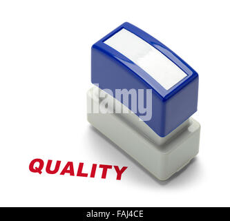 Office Quality Stamper Isolated on a White Background. - Stock Photo
