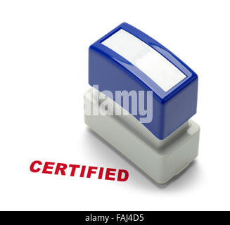 Business Certified Stamper Isolated on a White Background. - Stock Photo