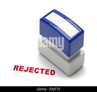 Office Rejected Stamper Isolated on a White Background. - Stock Photo