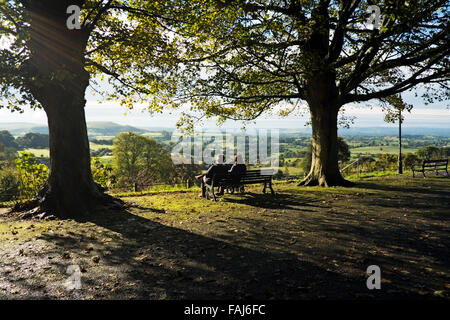 Autumn is Coming on Park Walk, Shaftesbury, Dorset. The scene in high summer just prior to autumn starts. - Stock Photo