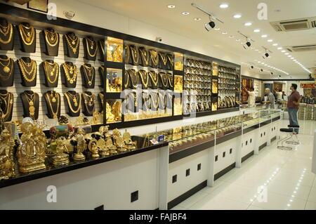 gold jewelry shop in Little India of Kuala Lumpur Malaysia Stock