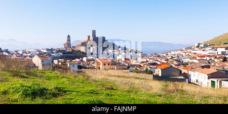 General view of  old andalusian town.  Alcaudete,  Spain - Stock Photo
