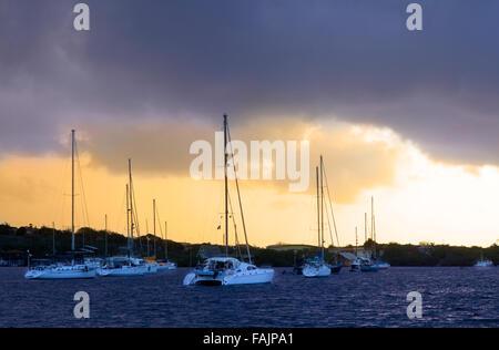 A Stormy Morning in Caracasbaai, Curacao - Stock Photo