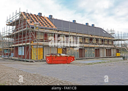 New houses under construction in the Netherlands - Stock Photo