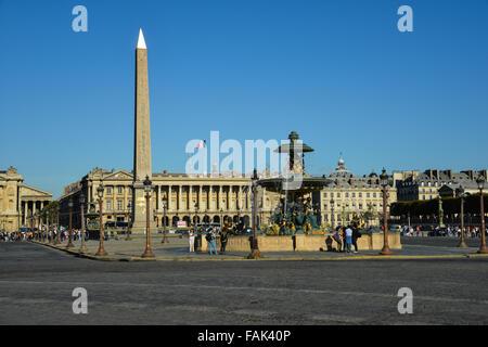 Place de la Concorde, Paris, Ile-de-France, France - Stock Photo