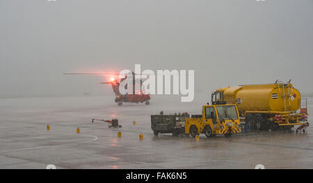 Royal Naval Air Station Culdrose, UK. 31st December, 2015. After over 40 years of providing Search and Rescue' operations - Stock Photo