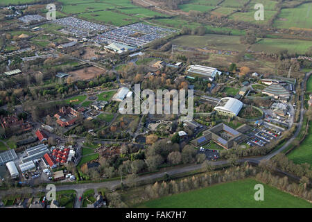 aerial view of Chester Zoo, Cheshire, UK - Stock Photo