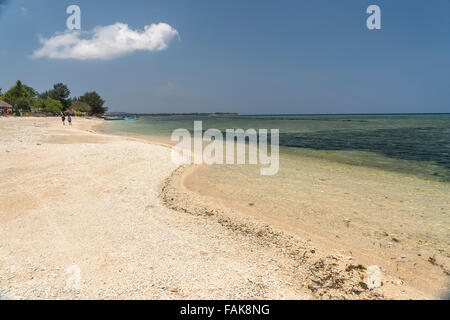 Beach on the small island Gili Air, Lombok, Indonesia, Asi - Stock Photo
