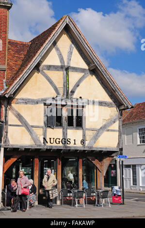 Old timberframed building in the market place, Salisbury. - Stock Photo