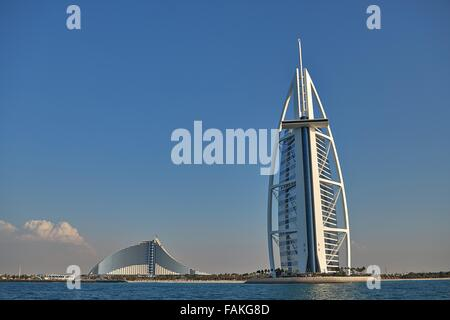 DUBAI, February 2006:  luxury hotel Burj Al Arab Stock Photo