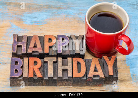 happy birthday card with cup of coffee and heart shaped cookie, Birthday card