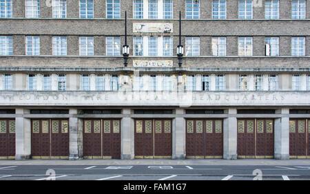 Former headquarters of London Fire Brigade, Albert Embankment, Lambeth, London, England - Stock Photo