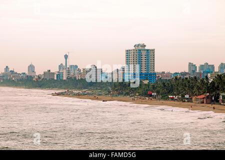 City beach, Colombo, Western Province, Sri Lanka - Stock Photo