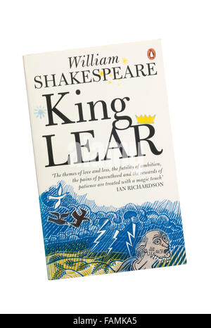 The Penguin edition of King Lear by William Shakespeare. - Stock Photo