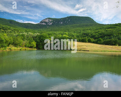 Lake in mountain. Nature composition. - Stock Photo