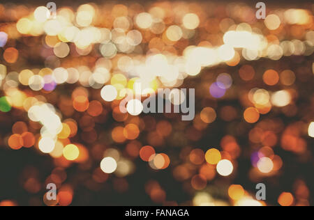 Abstract blurred big city lights - Stock Photo