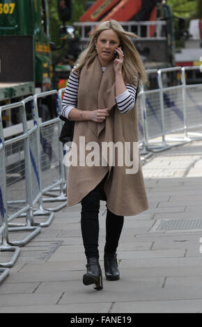 London, UK, 10th May 2015: Alice Sullivan arrives to The Andrew Marr Show at Westminster in London, UK - Stock Photo