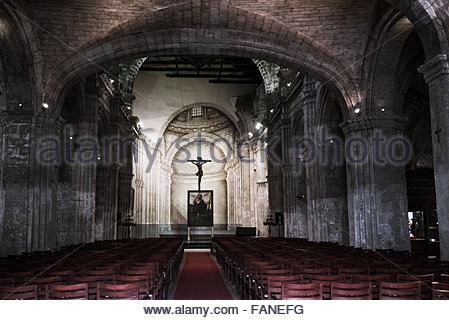 The basilica and the monastery of Saint Francis of Assisi or San Francisco de Asis which were built in  at the end - Stock Photo