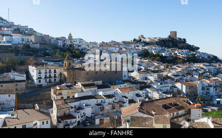 General view of  old andalusian town. Martos, province of Jaen, Spain - Stock Photo