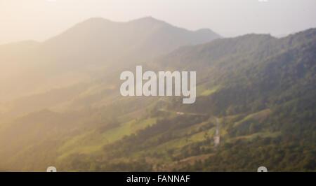 mountain blurred background - Stock Photo