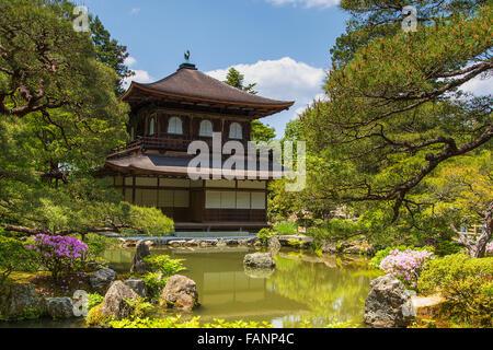 Ginkakuji - Silver pavilion in Kyoto Japan - Stock Photo