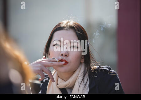 File. 2nd Jan, 2016. The new law, which went into effect Jan. 1st, bans those under 21 from buying tobacco products, - Stock Photo