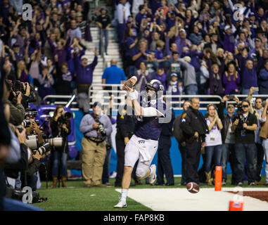 San Antonio, Texas, USA. 2nd Jan, 2016. In the 3rd overtime TCU Horned Frogs quarterback Bram Kohlhausen (6) after - Stock Photo