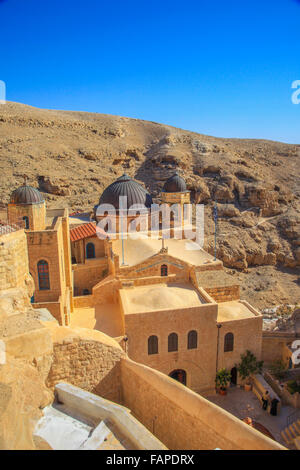 Domes in the Mar saba Greek orthodox monastery - Stock Photo
