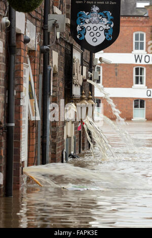 York floods after the River Ouse and Foss flooded in December 2015 - Stock Photo