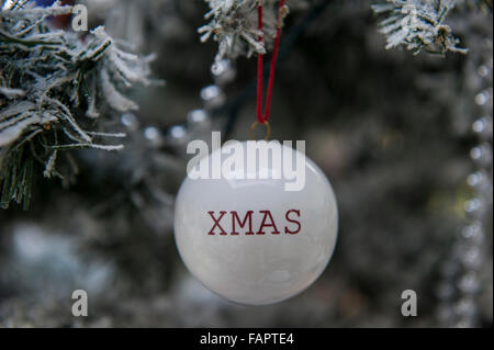 Happy Christmas bauble - Stock Photo