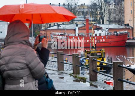Helsinki. Katajanokka Guest Harbour Pier north of Katajanokka, Helsinki, Finland. Katajanokka & Kruununhaka bit - Stock Photo