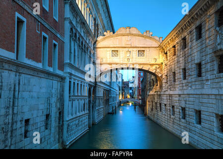 Bridge of sighs in Venice, Italy at the sunrise - Stock Photo