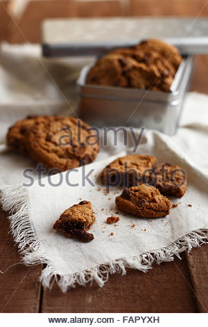 cookies macro photographed in daylight, color images - Stock Photo