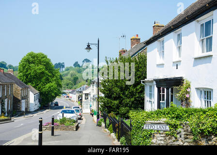 The town of Grampound in Cornwall, UK - Stock Photo