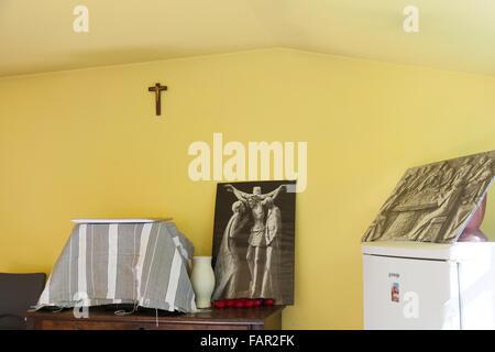 Parish refuge in the village of Arudy - Stock Photo