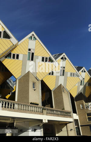 Cube Houses (Kubuswoningen) in Rotterdam, the Netherlands. The houses were designed by Piet Blom. - Stock Photo