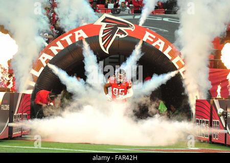 Atlanta Georgia. 3rd Jan, 2016. Atlanta Falcons DT Babineaux, Jonathan (#95) in action during NFL game between New - Stock Photo