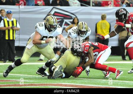 Atlanta Georgia. 3rd Jan, 2016. Atlanta Falcons CB Alford, Robert (#23) in action during NFL game between New Orleans - Stock Photo