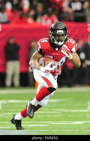 Atlanta Georgia. 3rd Jan, 2016. Atlanta Falcons RB Freeman, Devonta (#24) in action during NFL game between New - Stock Photo