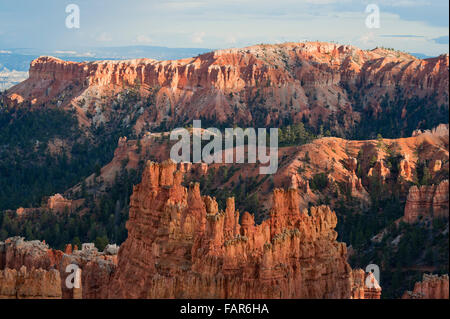 Bryce Canyon lit by late afternoon sun. - Stock Photo
