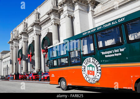 Key West Trolley Sightseeing Tour Bus Old Town Outside Union Station Washington DC