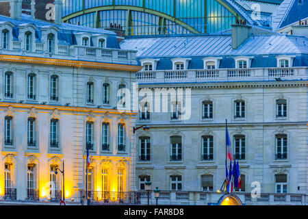 Orsay Museum at dusk, Paris - Stock Photo