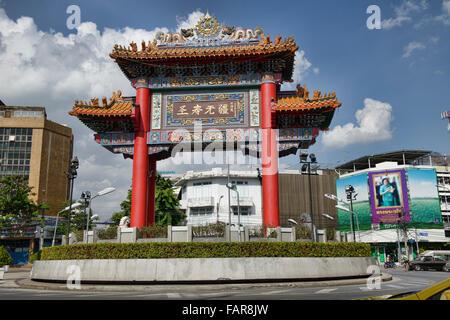 The Chinatown Gate in Bangkok, Thailand - Stock Photo