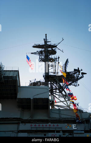 USS Midway Museum at the port of San Diego, California - Stock Photo