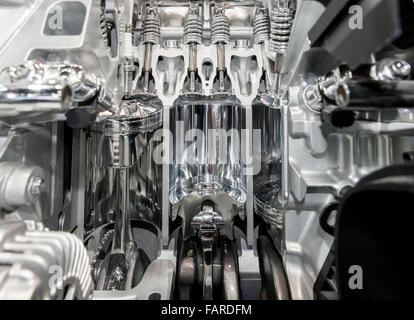 closeup on part of the car engine - Stock Photo