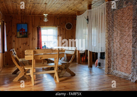 in a vilnius lithuania august 29 2015 standard interior of wooden rustic style tourist - Rustic Hotel 2015
