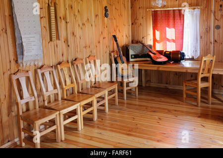 vilnius lithuania august 29 2015 dancing room in the wooden rustic style - Rustic Hotel 2015