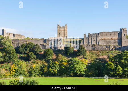 England, North Yorkshire, Richmond, Richmond Castle - Stock Photo
